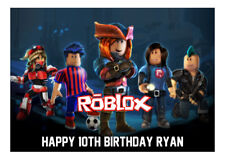 1 x Roblox  Gaming 19x27cm rectangle personalised cake topper edible image
