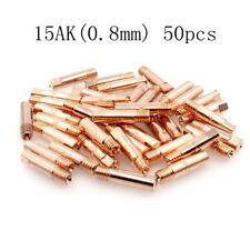 MIG Welding Torch 15AK Contact Tip 0.8mm for Binzel MAG Welder Gun 50pcs