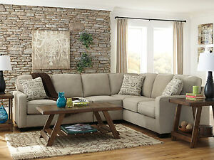 NEW Modern Living Room Family Sectional - Gray Microfiber Large Sofa Couch IG3L