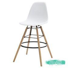 Sgabello Moderno Wooden in Plastica Bianco - SPEDIZIONE GRATUITA