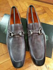 Magnanni Men's Slip-on Shoes Gray Grey Size 10/ 43M BRAND NEW $350
