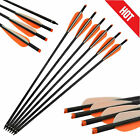 16-22'' 6P/12P Archery Crossbow Bolts Carbon Shaft Arrows Hunting Shooting