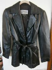 WILSONS LEATHER SOFT BLACK LEATHER JACKET SIZE XS