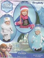 Simplicity 8029 Girls' Hats, Mittens and Scarves S, M, L      Sewing Pattern