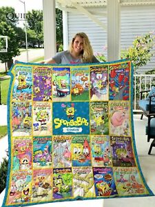 Sponge Bob comics collection, New Design blanket, Fleece, Quilt blanket USA