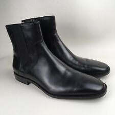 DKNY Men's Black Leather Matthew Chelsea Boots Size UK 8.5