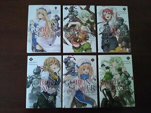 Goblin Slayer (Light Novel) Series, Vol. 1-6 Brand New