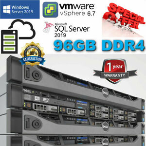 Dell PowerEdge R630 2x E5-2670v3 2.30Ghz 12Core 96GB DDR4 H730 Mini 8TB SAS 6G