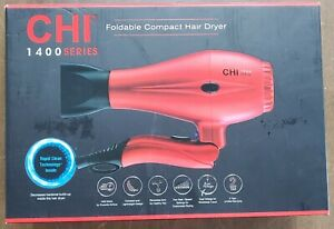 CHI 1400 SERIES FOLDABLE COMPACT HAIR DRYER - RED  - NEW