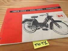 Peugeot GT 1971 catálogo piezas adosadas spare piezas list ciclomotor Catálogo