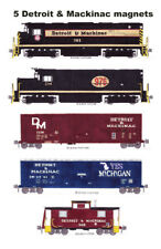 Detroit & Mackinac set of 5 magnets by Andy Fletcher