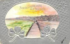 ST. PATRICK'S DAY HOLIDAY IRELAND TRAMORE EMBOSSED POSTCARD (c. 1910) 329