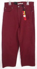 PACO JEANS Boys Burgundy Relaxed Jeans Size 12 NWT $35