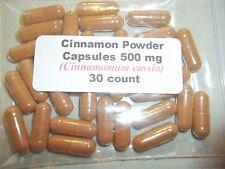 Cinnamon Powder Capsules (Cinnamomum cassia) 500mg - 30 Count