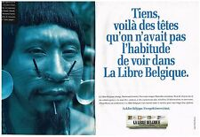 PUBLICITE ADVERTISING    1993    LA LIBRE BELGIQUE   journal (2 pages)