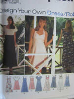 9600 UNCUT Simplicity SEWING Pattern Misses Design Your Own Dress Robe OOP SEW