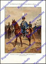König Umberto I. Italien Uniform Hessen Husaren-Rgt.13 Bockenheim Frankfurt 1896