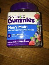 MENS Natrol Gummies Multi Vitamin 26 Fruits Veggies (90 Count) Berry Cherry Grap