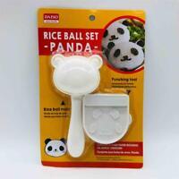 New/Sealed Daiso Japan PANDA Rice Ball Set Sushi Mold + Punching Tool