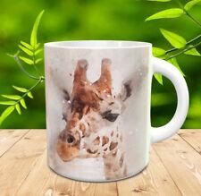 Giraffa Regalo Tazza, Giraffe dipinti con acquerelli Splatter e GRUNGE-Tazza