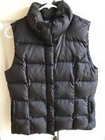 Eddie Bauer Premium Quality Goose Down Women's Puffer Vest EUC Full Zip Sz S