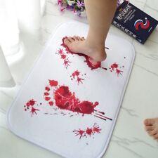 Halloween Floor Rug Blood Footprints Mat Bathroom Carpets Horror Tricking Props