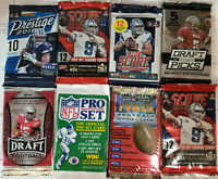 1990-2018 NFL Football 8 pack factory sealed special - see details inside