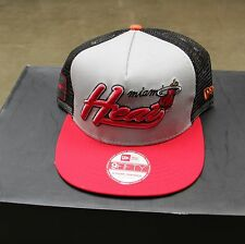 Miami Heat NBA Snapback Hat Men Red Black Grey Hardwood Classics New Era Trucker