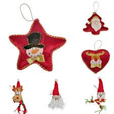 Diversión Adornos para Árbol de Navidad Tela Rojo Santa Reno Muñeco Nieve Bola