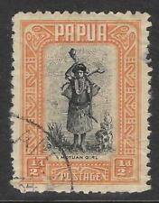 PAPUA 1932 ½d Orange MOTUAN GIRL 1v USED (No 2)