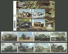 GB 2021 BRITISH ARMY VEHICLES MILITARY TANKS CHURCHILL SET & SHEET MNH