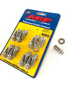 """ARP Stainless Extractor Header Exhaust Bolts 3/8"""" x 3/4"""" SB BB Chev Ford 302 351"""