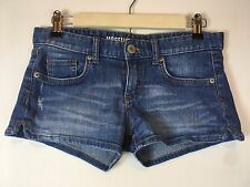 Mossimo Supply Denim Size 7 Fit 6 Coupe 6 Mini Short Shorts 5 Pocket Zip Front
