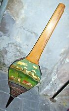 grande MANTICE SOFFIETTO camino dipinto, Large Vintage Antique Fireplace Bellows