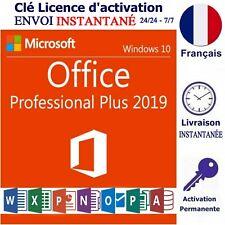 Microsoft Office 2019 Pro Plus Clé Licence D'Activation Livraison Instantanée