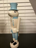"""Easter Spring  Wooden Nutcracker Vintage Lot Easter Colors 12"""""""