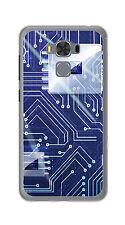 """FUNDA de GEL TPU para ASUS ZENFONE 3 MAX 5.5"""" ZC553KL diseño CIRCUITO Dibujos"""
