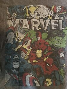 Marvel Comics Officially Licensed Super Heroes T Shirt Men's Medium M