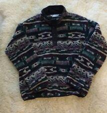 Vintage Columbia Aztec Navajo Thick Pile Fleece Jacket Men's XL Made In USA