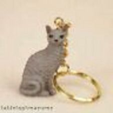 cornish rex blue cat key chain great gift