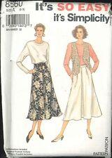 Easy Misses Skirt Top Vest Pattern Size 8 10 12 14 16 18 Simplicity 8560 Uncut