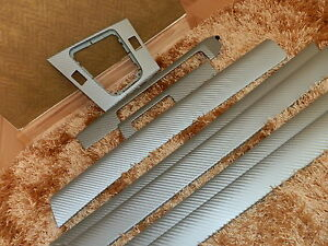 Dekorleisten Interieurleisten BMW E46 Carbon 3D Struktur Folien Set SILBER