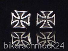 Eisernes Kreuz Schmuck Ohrstecker 925 Silber Iron Cross Bikerschmuck Ohrringe