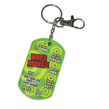 Who's Round Is It Keyring Keychain Adult Stag Hen Drinking Game Decision Maker
