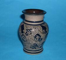 Studio Art Pottery - Attractive Raised Pattern Design Vase (Signed on Base).