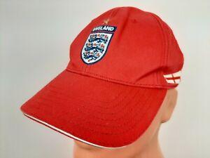 England 2006/2007/2008 UMBRO Baseball Cap Hook and Loop Adjustable Red Hat RARE