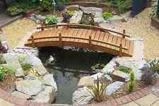 Victoria wooden garden or pond bridge - 7ft (213cms) (brown)