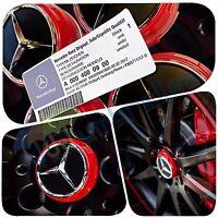 X 4 Mercedes AMG Rot Rad Nabenkappen 75MM Passend für einen B C E + A45 Klasse