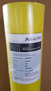 Armith WDVS-Gewebe gelb 165g/m² 100cm x 50m=50m² Armierungsgewebe 4x4mm ETAG 004