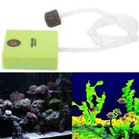 Aquarium Dry Battery Operated Fish Tank Air Pump Aerator Air Stone With Oxy E7U5